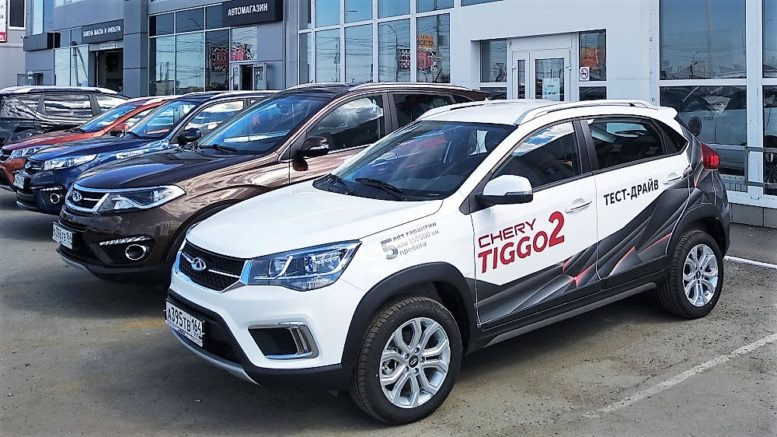 продажи китайских автомобилей