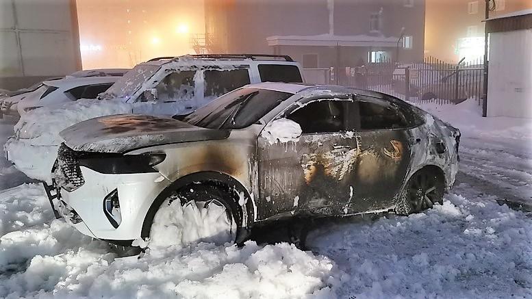 Haval F7x сгорел