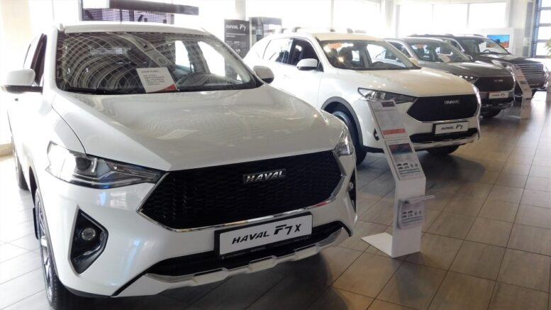 Продажи китайских автомобилей в 2020 году