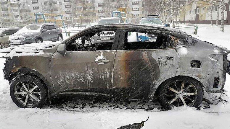 Китайские автомобили горят