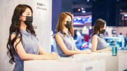 девушки шанхайского автосалона