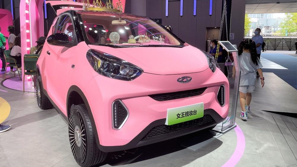 chery eQ1 розовый