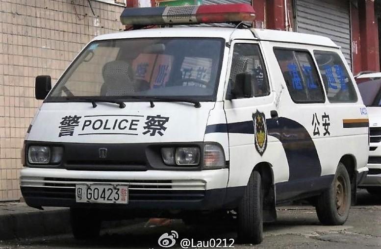 полицейский автомобиль в китае